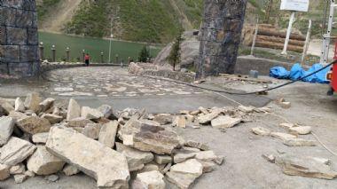Baraj Tatil Köyü Duvar ve kayrak Taşı Çalışması